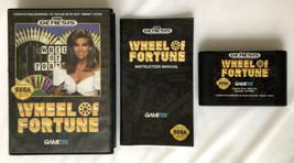 ☆ Wheel of Fortune (Sega Genesis 1992) COMPLETE in Box Game Cart Manual ... - $6.50