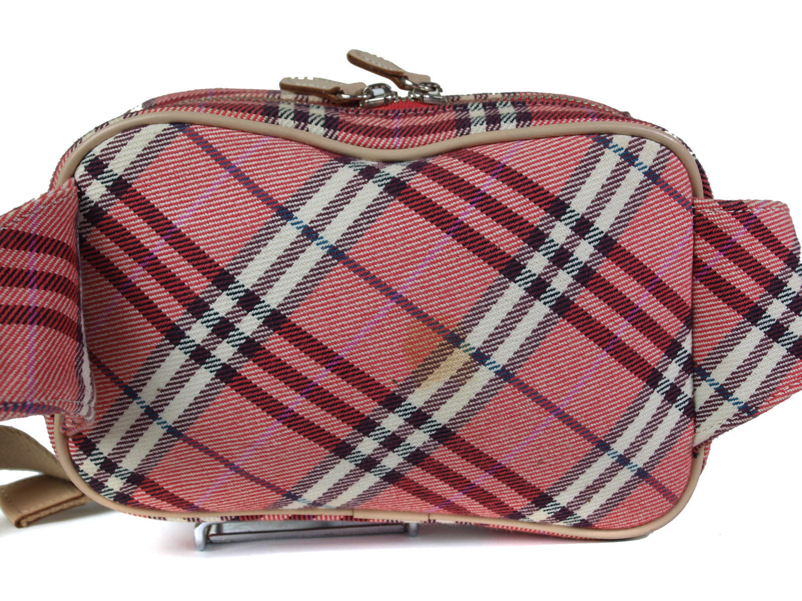 a6ad0a43ab58 Auth Burberry London Blue Label Pink Canvas