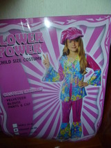 Child Flower Power Hippie Halloween Costume Size 8   10 - $15.00