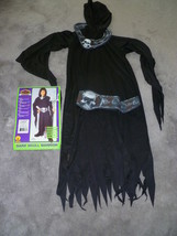 Child Ninja Dark Skull Warrior Halloween Costume Size 8   10 - $10.00