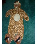 CHILD VELVET GIRAFFE HALLOWEEN COSTUME SIZE 24 ... - $15.00