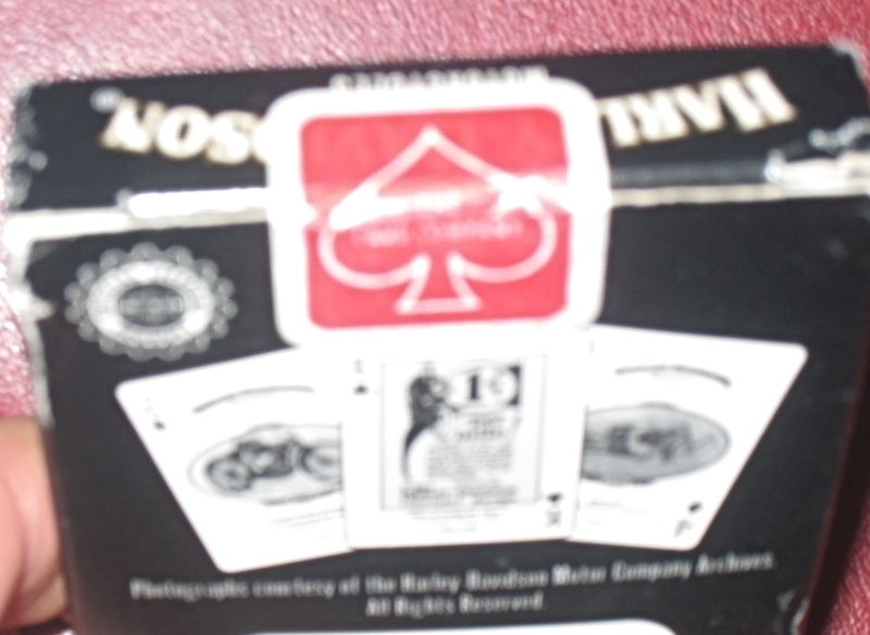Harley Davidson Motorcycle Historical Playing Cards featuring cycles 1903 - 1929