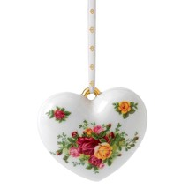 Royal Albert Old Country Roses Christmas Heart Ornament 2015 (s) NEW - $17.75