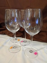 "Longaberger Glass Set of 4 WHITE WINE GOBLETS GLASSES - 9"" 13.8 Ounce No... - $29.95"