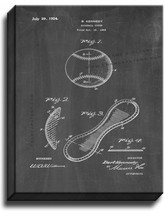 Baseball Cover Patent Print Chalkboard on Canvas - $39.95+
