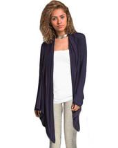 Navy Blue Drape Cardigan Size Small - $10.40