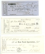 3 early advertising invoices newspapers 1863 New York Jr Spectator Daily... - $12.00