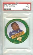 1994 Seattle Seahawks Chris Warren King B Discs Rare Psa 9 - $29.99