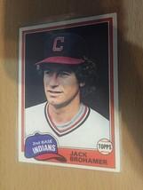 #462 Jack Brohamer 2nd Base Indians Topps Baseball Card 1981 1A - $1.90
