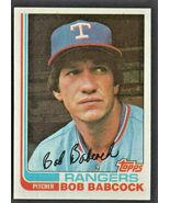 Texas Rangers Bob Babcock 1982 Topps Baseball card # 567 nr mt  - $0.50