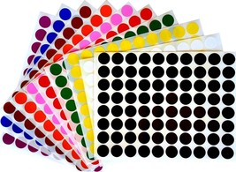 Permanent Adhesive Decoration Stickers Round Organizing DIY Project Dots... - $12.57
