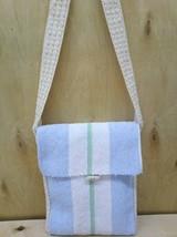 Handmade  textile  crossbody  bag  handwoven rag bag - $85.00
