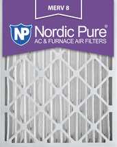 Nordic Pure 20x25x4 (3 5/8) Pleated MERV 8 Air Filters 2 Pack - $38.38