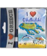 Greece Souvenir Fridge Magnet Chalkidiki 9.5cm X 6.5cm - $10.85