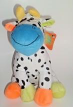 "Stuffed Green ECO-FRIENDLY Toys Sugarloaf Spotted Cow Plush 10"" W/original Tag - $12.84"