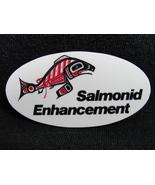 Pinback Button Salmonid Enhancement Program Vintage 1970s Salmon Fish BC - $7.99