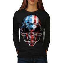 America Football Tee USA Flag Women Long Sleeve T-shirt - $14.99