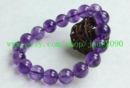 Free Shipping - Natural Amethyst  Prayer Beads charm beaded bracelet - $25.99