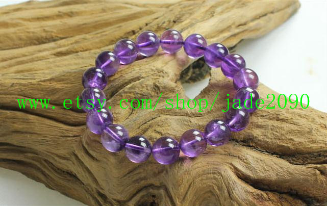 Free Shipping - Natural Amethyst  Prayer Beads charm beaded bracelet