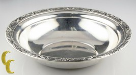 Reed & Barton Large Sterling Silver Bowl w/ Floral Rim X745 Minor Scratches - $260.08
