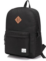 Lightweight Backpack for School, VASCHY Classic Basic Water Resistant Casual Day