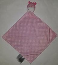 Pink Giraffe Carter's Child Mine Security Blanket Lovey Plush Rattle Polka Dot - $13.81