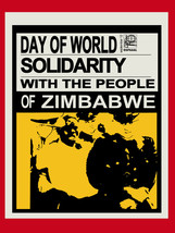"16x20""Political World Solidarity Socialist Poster CANVAS.Zimbabwe Africa... - $50.00"