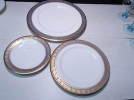 3 Piece Set Noritake Grand Broche ~ rare ~ dinner, salad, saucer ~ nu in... - $39.99