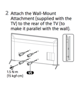 SONY XBR 65X900H 55X900H 75X900H Vesa Spacer WallMount Attachment  5-009... - $39.59