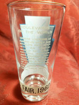 "1962 Seattle World's Fair ""Boulevards of th World"" Drinking Glass Souvenir image 3"