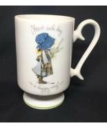 Holly Hobbie Vintage Porcelain Start Each Day Pedestal Coffee Tea Cup AL... - $18.28