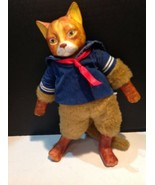 Gordon Frazers Gallery Schmid Wind Up Musical Porcelain And Stuffed Cat - $39.60