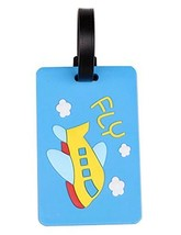 Set Of 2 Fashional Luggage Tag Bag Tags Silicone Name Tag Travel Tag [Blue]