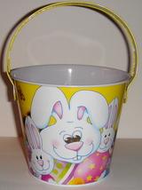 Small Tin Pail w/ Yellow Easter Bunny Design - $7.00