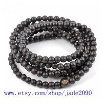 Free Shipping -  7mm Tibetan Buddhism Real Natural black sandalwood meditation y - $19.99