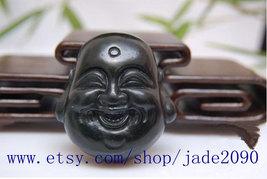 Free shipping - Natural black jade Laughing Buddha buddha charm pendant ... - $29.99