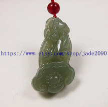 Free Shipping -  Amulet Natural green jade carved ''pi yao'' prayer Heal... - $25.99