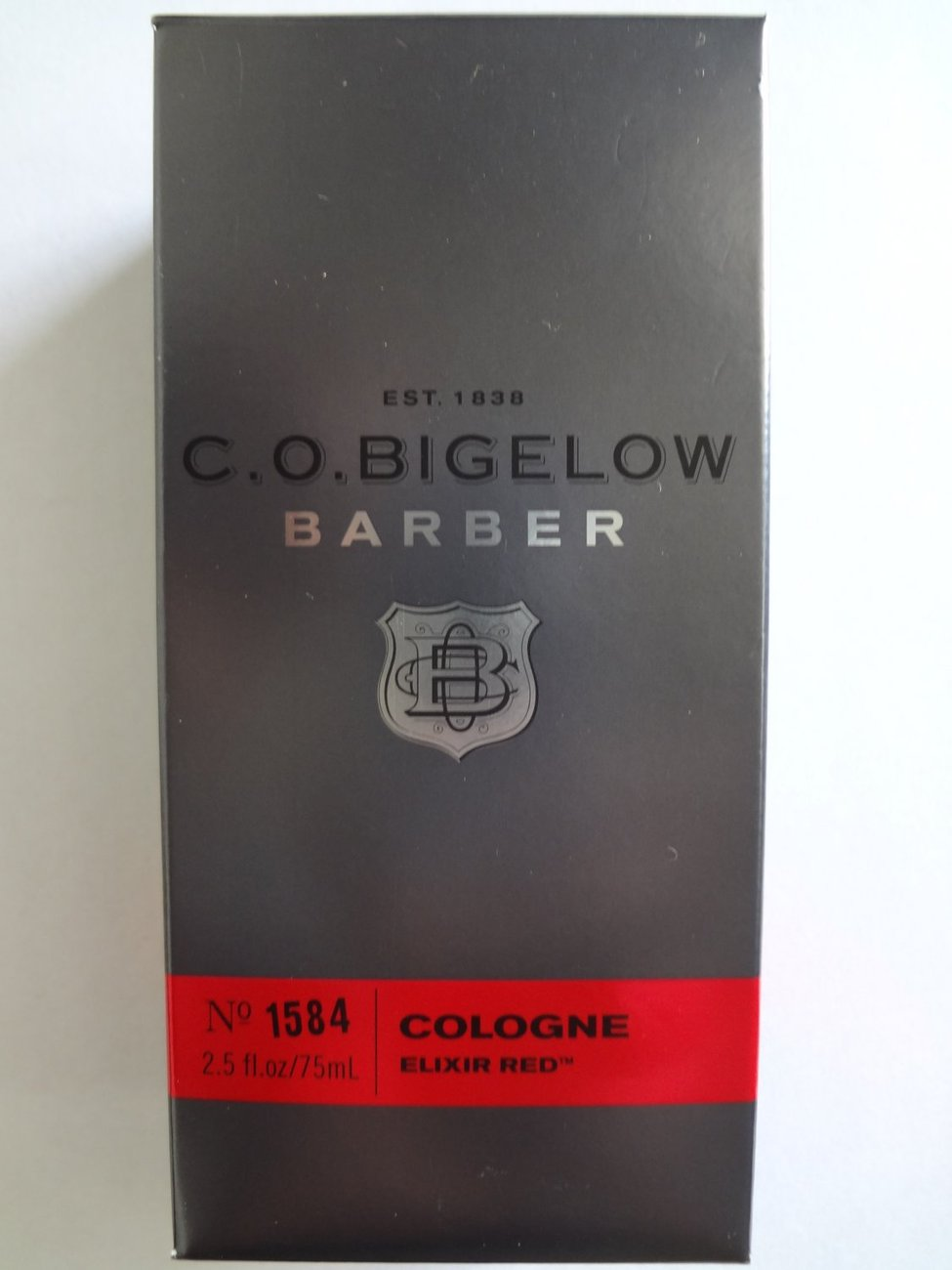 C.O. Bigelow Barber ELIXIR RED Cologne No.1584, 2.5 oz/75 ml