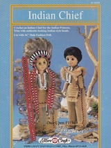 Indian Chief, Fibre Craft Crochet Male Doll Clothes Pattern Booklet FCM329 - $3.95