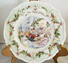 "Royal Doulton Brambly Hedge ""The Snow Ball"" #1 Midwinter Plate 1984 Jill Barklem - $70.13"