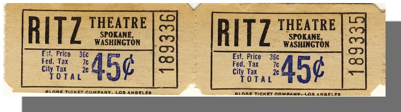 Spokane wa riz ticket pair 45 cents