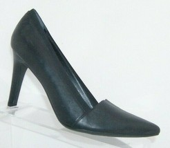 Franco Sarto Andromeda black leather pointed toe v-cut elastic lining heels 6M - $31.43