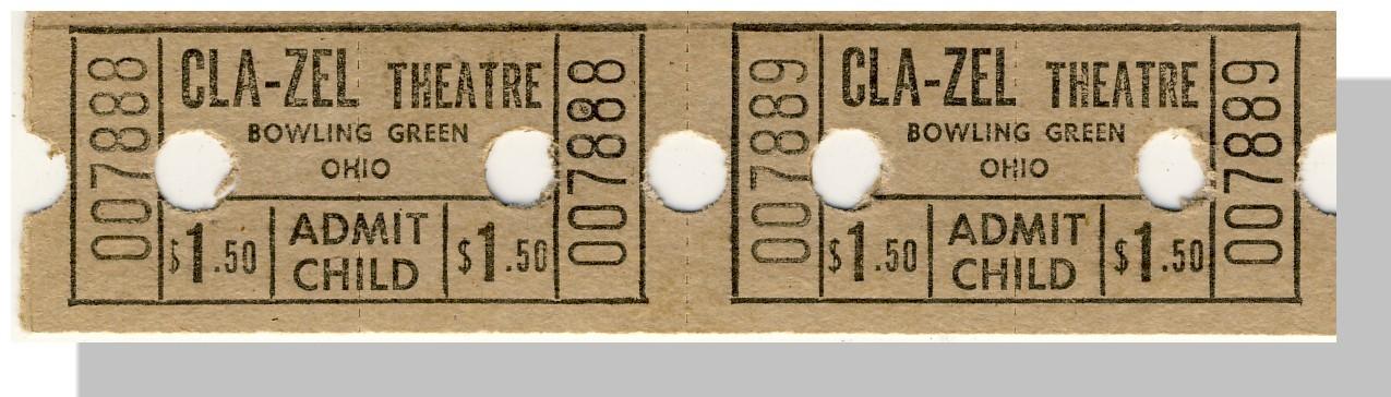 Bowling green cla zel  ticket tan 1.50 pair