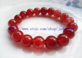 Free Shipping - 100% Nice Natural  Red Jadeite Jade charm beaded jade Bracelet ( - $19.99