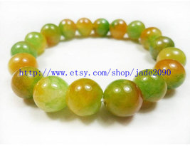 Free Shipping - 100% Nice Natural Orange Yellow Jadeite Jade charm beade... - $19.99