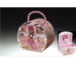 Childrens Musical Jewelry Music Box Ballerina Fairy PNK - $34.47