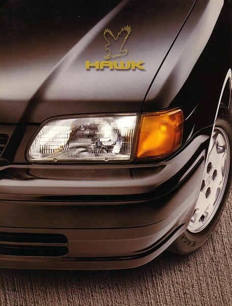 1997 Toyota TERCEL HAWK EDITION brochure catalog Black Red