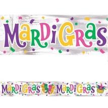 Mardi Gras Foil Banner 9 ft Party - $3.79