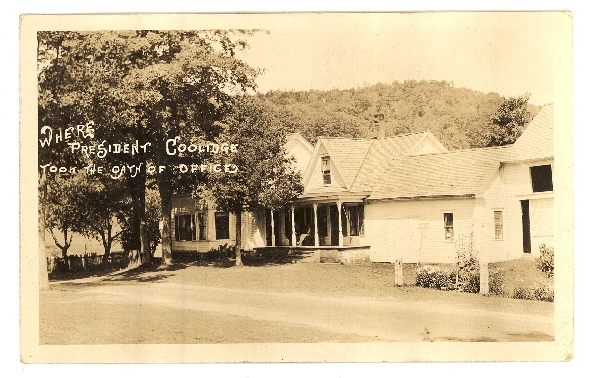 President Coolidge homestead real photo vintage postcard political Plymouth VT