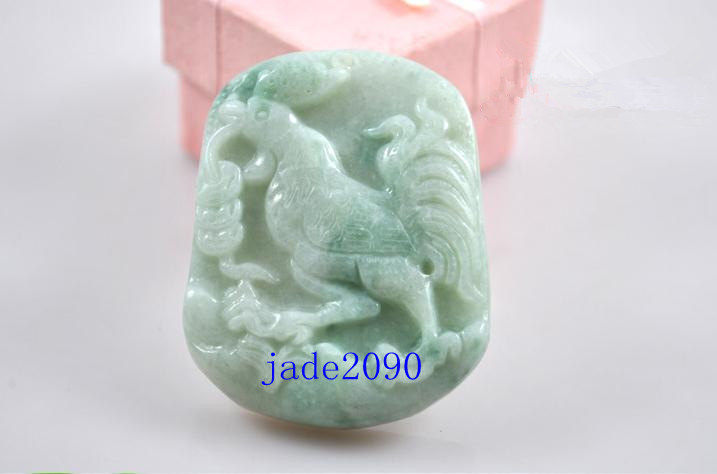 Primary image for Free Shipping - green jadeite jade Rooster , Elegant Natural green Rooster jadei